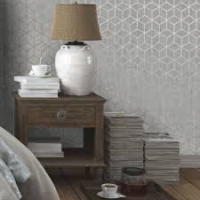 Silver Wallpaper For Bedrooms Innocence Charcoal Silver Wallpaper By Graham And Brown
