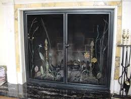 fireplace screen replacement glass parts repair candle holrs safe