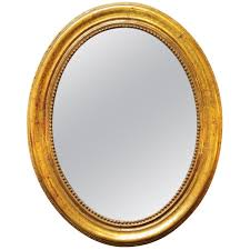 wall mirror clipart. french 19h century oval gold leafed mirror 1 wall clipart