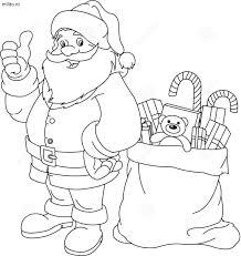 Kleurplaat Kerstman De Mooiste Kleurplaten Militonl
