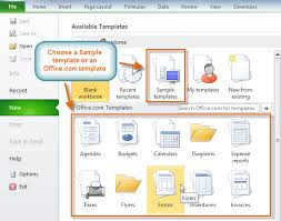 Excel 2010 Templates Excel 2010 Using Templates