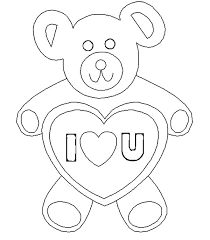 Small Picture Teddy Bear I Love You Coloring Pages Batch Coloring