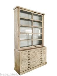 office display cases. Display Cabinet Pine Sliding Glass Doors 8 Drawers Dining Room Office New Cases N