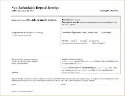 Deposit Templates Non Refundable Deposit Receipt Template Receipt Templates