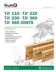 Tji 560 Span Chart Tji 110 210 230 360 560 Joists Specifiers Guide