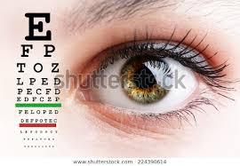 Eyesight Vision Chart Womans Eye Eyesight Vision Exam Chart Stock Photo Edit Now