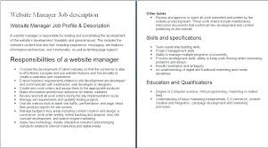 Php Developer Resume Php Developer Job Description Bitacorita