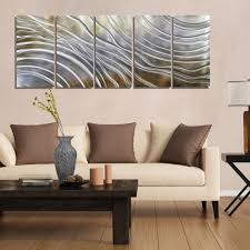 Small Picture Gold Silver Pecan Modern Metal Wall Art Contemporary Wall