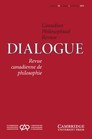 Dialogue Canadian Philosophical Review Revue Canadienne De