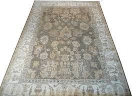 6x9 hand knotted gray oushak oriental rug