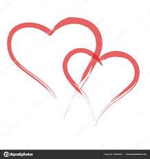 Heart Shape Design Heart Shape Design For Love Symbols Stock Vector
