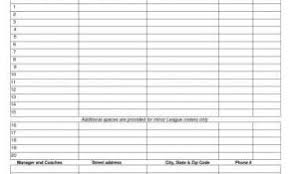 Baseball Team Roster Template Awesome Baseball Team Roster Template ...
