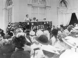 obama designates belmont paul women s equality national monument  women s suffrage rally at alva vanderbilt belmont s marble house newport rhode island 1914