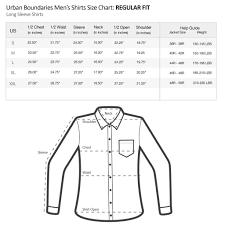 Mens Shirt Neck Size Chart Coolmine Community School