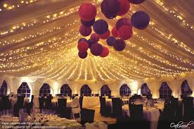 Wedding Tent Pole Decorations Pole Tent With Colored Paper Paper Lanterns Wedding