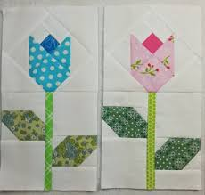 Quilt Inspiration: Free Pattern Day: Easter and Spring Quilts ! & Tulip Quilt, free pattern by Carolyn at Allspice Abounds Adamdwight.com