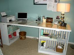 upcycling antique door made into desk