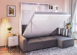 furniture for a small space. MurphySofa-sectional-wall-bed-living-room-2-in- Furniture For A Small Space ,
