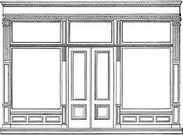 store clipart black and white. Plain Clipart Free Architecture Clip Art Store Front With Clipart Black And White