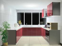 Red White Kitchen Red And Grey Kitchen Cabinets Quicuacom