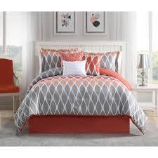 undefined clarisse c grey white 7 piece full queen comforter set