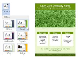lawncare ad lawn care flyer template for word