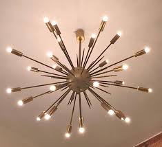 sputnik light brushed nickel murano sputnik chandelier sputnik ribbon light