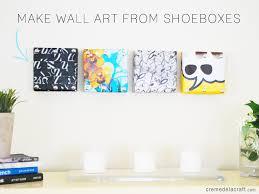shoebox lid wall art