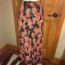 Deanne Skirt Size Chart Nwt M Llr Elegant Deanne Roses Pleated Skirt Nwt