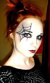 halloween face paint spider webs and spider makeup