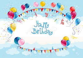 Happy Birthday Background Images Happy Birthday Background In Blue Sky With Place For Text Royalty