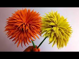 Paper Flower Making Video How To Make Dandelion Paper Flowers Easy Flower Making Handmade