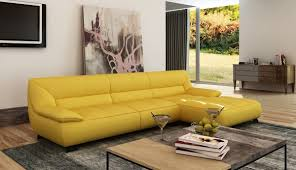 Light Yellow Leather Sofa