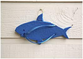 shark flip flop sculpture wall art
