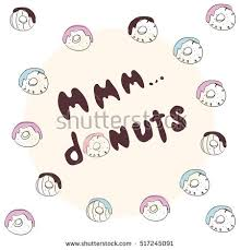 Stock Quote For T Inspiration Mmm Donuts Inscription Stock Quotes Donuts Stock Vector Royalty