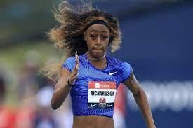 American sprinter Sha'Carri Richardson ...
