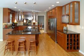 custom kitchen cabinets chicago. Perfect Kitchen Custom Kitchen Cabinets Honey Finish Slab Frameles Cabinets In Chicago A