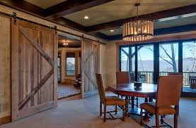 rustic dining rooms. Barn Doors Are A Great Choice For The Rustic Dining Room Rooms