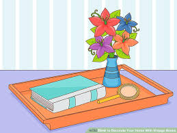 image titled decorate. Decorate Books Image Titled Your Home With Vintage Step 9 T