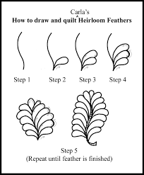 How to quilt Various Feathers, etc. | Carla Barrett & Here is the order for the Continuous Curve quilting in a 9-patch: Adamdwight.com