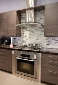 Exhaust Chimney Design Kitchen Glass Chimney Hood Gray Backsplash Modern Kitchen