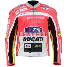 valentino rossi ducati corse motorcycle leather jacket