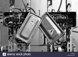 old fuse box black and white stock photos images alamy old rusty electric transformer box wires stock image