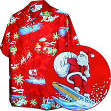 Men's Red Christmas Hawaiian Shirts