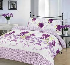 Bethany Printed Lilac Duvet Quilt Cover Set — Linens Range & bethany lilac quilt cover Adamdwight.com