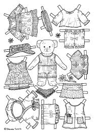 Small Picture Bears paper dolls 50 Bears Kids printables coloring pages
