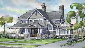 shingle style home post