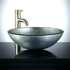glass bathroom vessel sink vanity pedestal silver bedroom colors tempered s