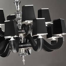 high end black leather swarovski crystal chandelier