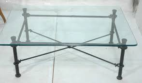 coffee table iron glass top table french wrought and 4 curved base for rectangle long black wrought iron table